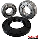 """Nachi High Quality Front Load Whirlpool Washer Tub Bearing and Seal Kit Fits Tub W10772619 (5 year replacement warranty and full HD """"How To"""" video included)"""