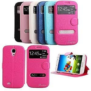 GX Teléfono Móvil Samsung - Carcasas de Cuerpo Completo/Fundas con Soporte - Color Sólido - para Samsung S4 I9500 (Negro/Blanco/Rosado/Rosa/Azul , Pink