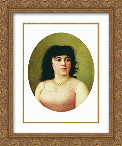 Virginia Italian - Fyodor Bronnikov 2X Matted 20x24 Gold Ornate Framed Art Print 'Portrait of an Italian Ballerina Virginia Zucchi'