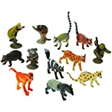 2 Dozen (24) Mini RAINFOREST ANIMAL Toy Figures - 1.5'' - 2.5'' PARTY Favors - Prizes - Pretend Play Gorilla APE Sloth LEMUR