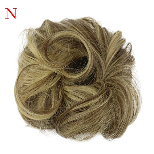 European And American Wig Ladies Wig Hair Ring Women's Curly Messy Bun Hair Twirl Piece Scrunchie Wigs Extensions Hairdressing (N)