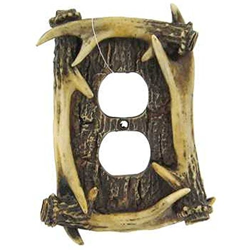 Antler Outlet Wall Light Switch Cover - Faux Antler Outlet Cover