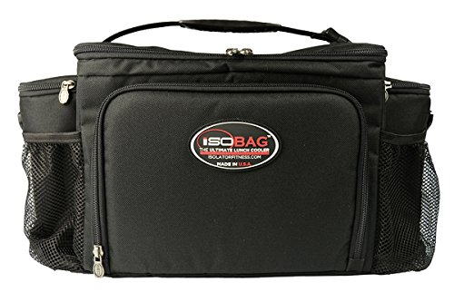 Isolator Fitness Isobag 6 Meal Management System Black/Black / Insulated Lunch Box / Insulated Lunch Bag (Isolator Cooler)