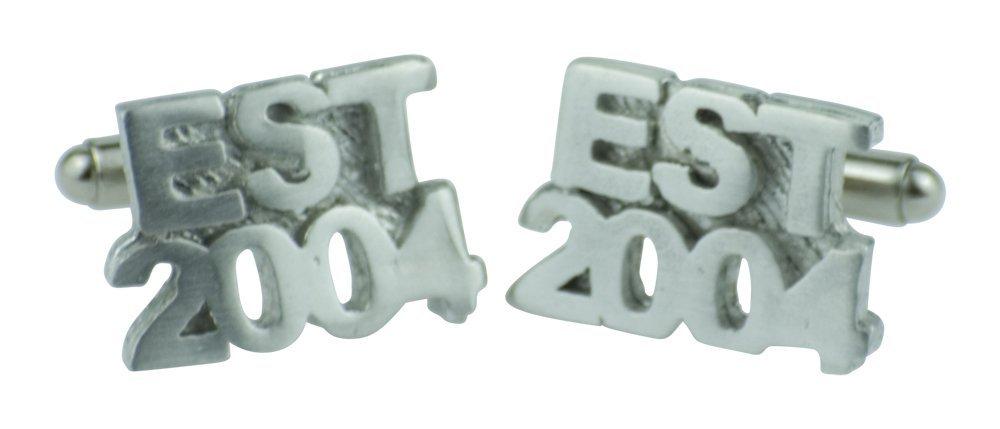 Established 2004 14th Wedding Anniversary Cufflinks - EST 2004 - Handmade & Unique 13 Year Gift