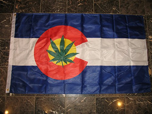 3X5 Colorado Weed Marijuana Double Sided 2Ply Sewn Flag 3'X5' - Wristbands Marijuana