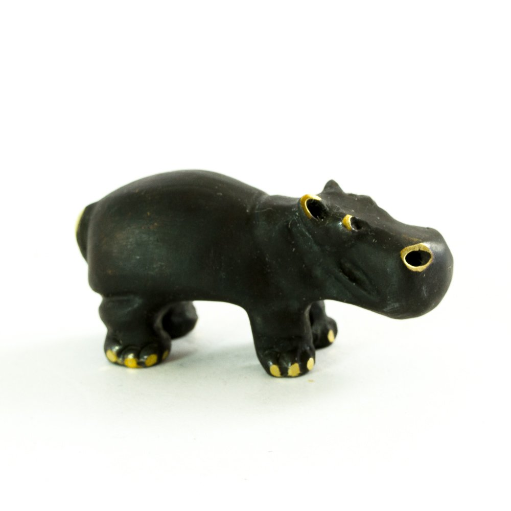 Amazon.com: Walter Bosse Brass Hippo Figurine: Home & Kitchen