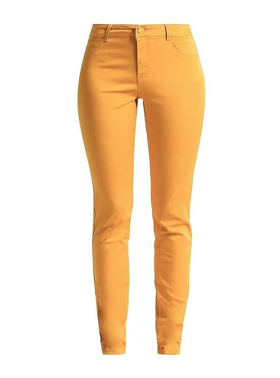 Amazon Mostaza Pantalones Amarillo Naf Y es Power 42 Ropa BOFXq