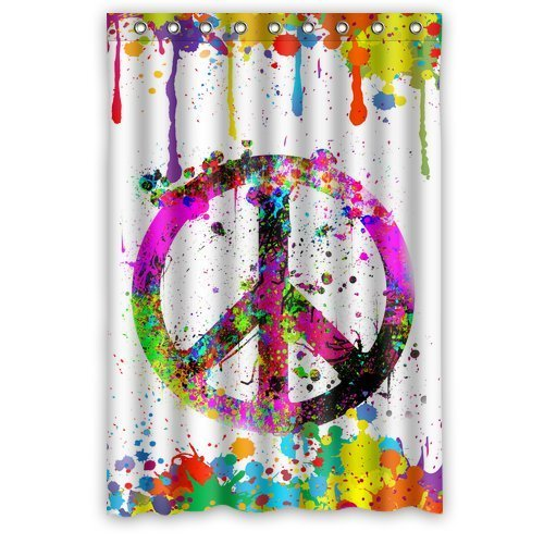 Amazon Com Colorful Splash Peace Symbol Sign Painting Art Waterproof Bathroom Fabric Shower Curtainbathroom Decor  Clothing
