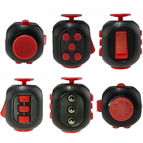 Adhd Fidget Cube DONGSHEN Brand New Design Fidget toys for Kids Hand Fidget Rolling movement Fidgets toys Desk Fidget Red&Black