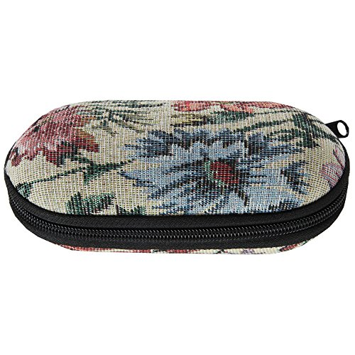 Home-X Dual Eyeglass Case, Includes a Convenient Mirror for Quick Beauty Checks, -
