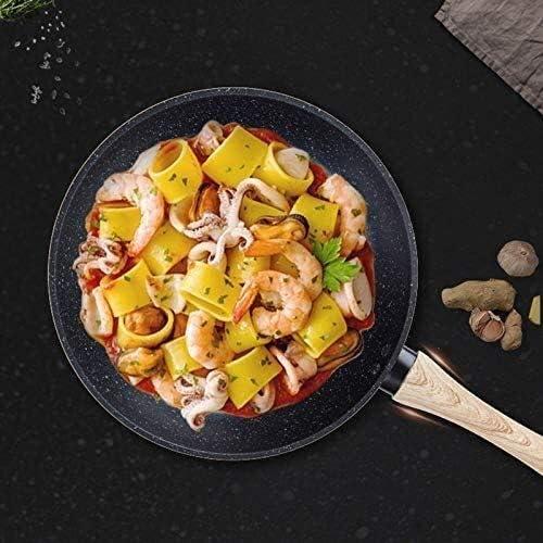 New Maifan Pierre Wok non-Stick Skillet for gaz Cuisinière à induction Egg crêpes Pot Cuisine et DiningTools Batterie de cuisine (Color : -)