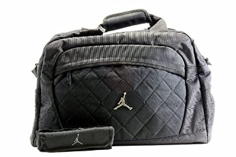 Image Unavailable. Image not available for. Color  Nike Jordan Jumpman Logo  Black Medium Duffle Bag 4bb0b3c2f3385
