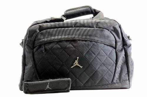 (Nike Jordan Jumpman Logo Black Medium Duffle Bag )