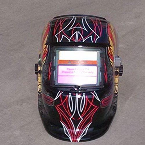 Casco Obiettivo Saldatura per Saldatrice Tiptiper Casco Saldatura Auto Oscura Auto Solare MIG MMA Salvaschermo Maschera