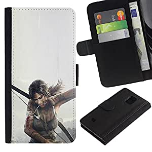 Stuss Case / Funda Carcasa PU de Cuero - T0Mb Raider - Lara Cr0Ft - Samsung Galaxy S5 Mini, SM-G800