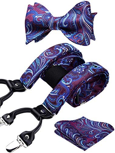 HISDERN Paisley Floral Suspenders Adjustable product image