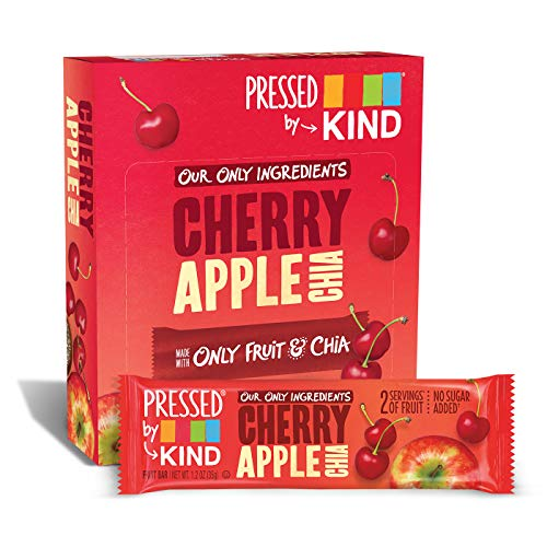 Free Apple Gluten Fruit - Pressed by KIND Fruit Bars, Cherry Apple Chia, No Sugar Added, Gluten Free, 1.2oz, 12 Count