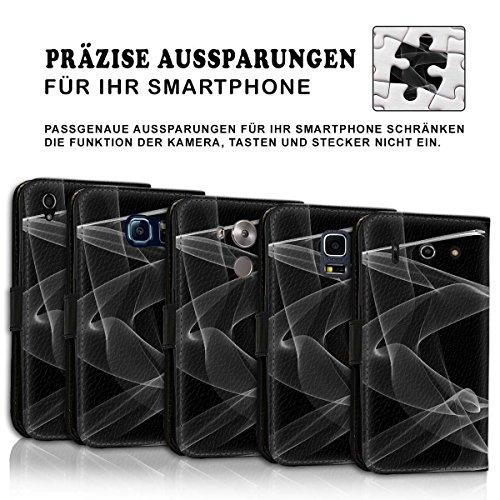 Wallet Book Style Flip Handy Tasche Case Schutz Hülle Schale Motiv Etui für Apple iPhone 5 / 5S - Design Flip MV287