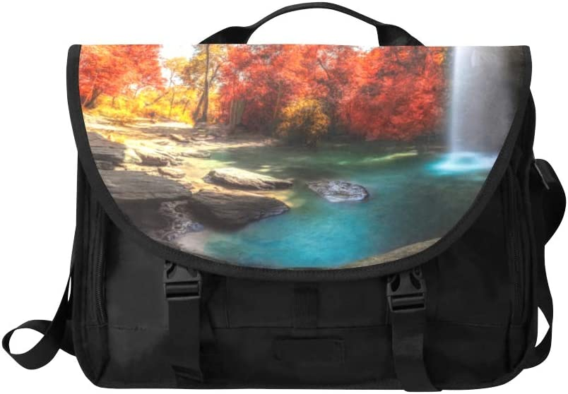 Ladies Fashion Bags Beautiful Waterfalls in The Jungle Multi-Functional Classic Fashion Bags Fit for 15 Inch Computer Notebook MacBook