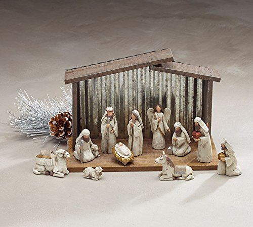 Burton and Burton 9734058 Blessed Beginnings Nativity Set, Resin