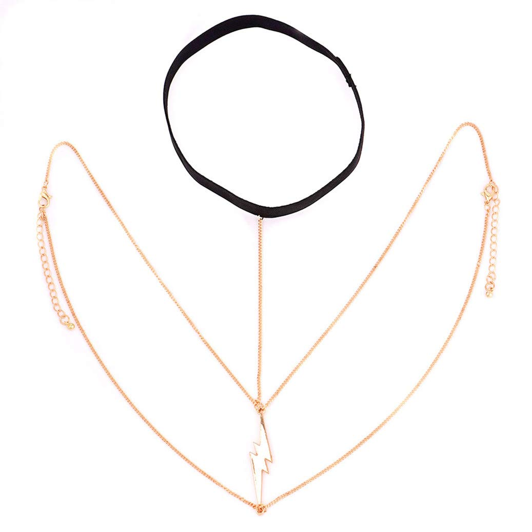 GOMYIE Jewelry Lightning Body Chain Leg Thigh Chain For Women Summer Beach Jewelry Accessories(Gold color)