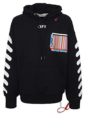 5fff1069 CraveLook Men's Oversized Off X NK Arrow Equality Graphic Print Hoodie  (Black)
