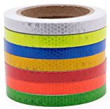 "reflective tape fluorescent yellow 0.5""X10'-waterproof self-adhesive trailer reflector tape-reflective tape for trucks,trailers,cars.Warning Caution Conspicuity Tape"