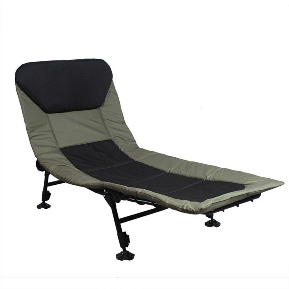 QFFL 家庭用屋外補強折り畳み式リクライニング/オフィスシエスタ折りたたみベッド/シンプルな実用的なステッチカラー折りたたみチェア アウトドアスツール B07F81KK53