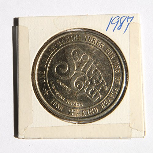"1986 One Dollar""Silver City Casino"" Token Coin Las Vegas, Nevada (Obsolete Design) 1 Used"