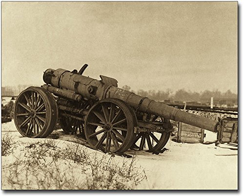 (The McMahan Photo Art Gallery & Archive WWI Artillery Gun 30x40 Silver Halide Photo Print)