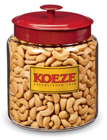 Crowd Pleaser - Colossal Cashews - 4.25 Lb. Jar by Koeze