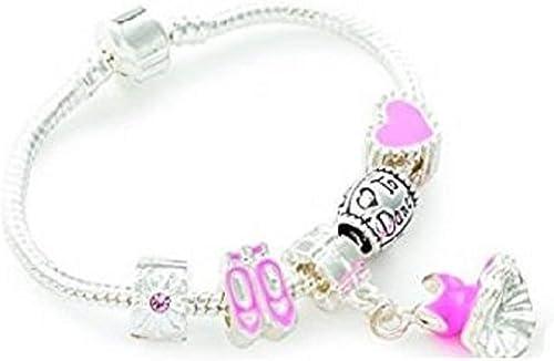 Liberty Charms Niece Childrens Purple Fairy Dream Silver Plated Charm//Bead Bracelet.