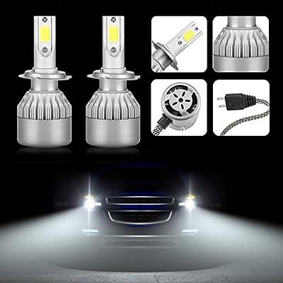 Mesllin LED Headlights Bulbs H1 Plug - COB Daylight 6000K 20000LM 120W Super Bright White Lights Bulb - Package of 2 (H1)