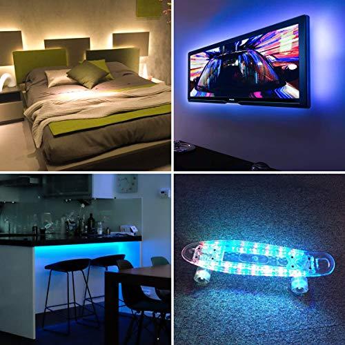 AMIR Upgraded LED Strip Lights, 30 LED 3.3ft TV Backlight Strip with Remote, USB Bias Monitor Lighting, 19 Modes 20 Color Changing Bias Lighting for TV Desktop PC, LED Strip Lights for Tik Tok