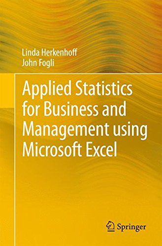 Pdf Technology Applied Statistics for Business and Management using Microsoft Excel