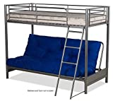 FUTON BUNK BED (FRAME ONLY) IN SILVER METAL FINISH