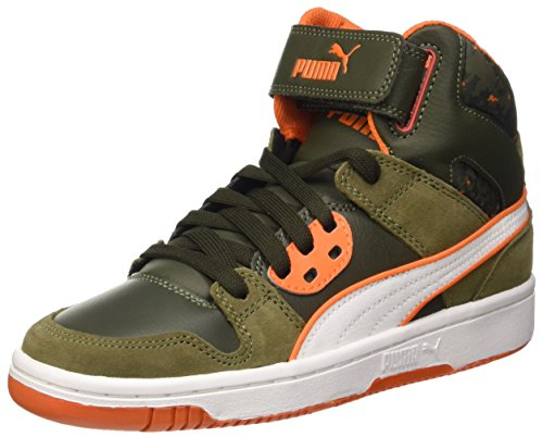 Puma Zapatillas Puma Rebound Street Wcamo Jr Verde (Burnt Olive/Forest Night/Bianco/Arancione)