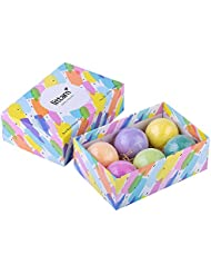 Littam Luxury Bath Bombs Gift Set 6 Pack Large Size Balls – Essential Oils, Shea Butter, Argan Oil, Cocoa Butter, Coconut Oil, Mineral Salts & lush fragrances