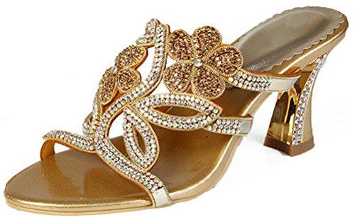 Sandals Glaring Bridemaid Womens Heel Chunky Mid Black Salabobo Rhinestone Mx Leather Bride Dress Wedding Shoes t004 Cx7w1wRq