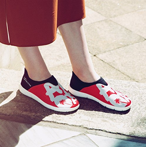 Shoes Cloth Uin Mesh Casual Walking Women's Red Aloha wx77nYq6aU