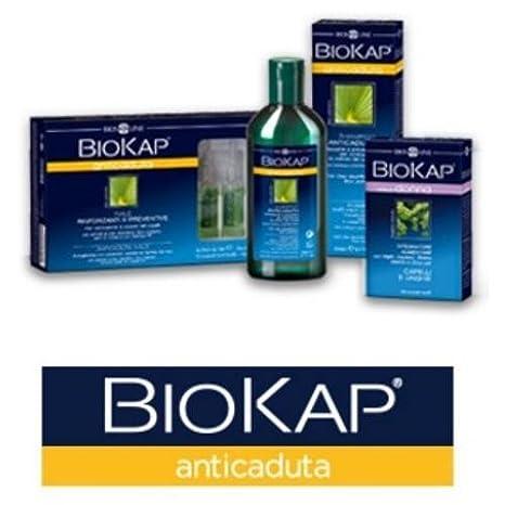 Biosline - Biokap Champú anticaída reforzador con Tricofoltil, 2 envases de 200 ml, anticaída, reforzador y de uso diario: Amazon.es: Belleza
