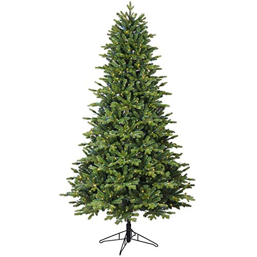 GE 7-ft Pre-lit Ashville Fir Artificial Christmas Tree 500 Multi-Function Color Changing Warm White LED