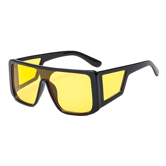 MEIHAOWEI Moda gafas de Sol Cuadradas de Gran Tamaño Mujeres ...