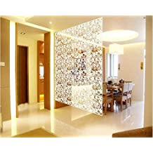4pc Plastic Hanging Screen Partition Room Divider Wall Sticker Home Hotel Decor