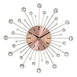 Benzara 85517 15'' D Metal Copper Wall Clock