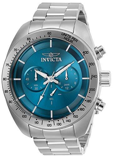 Invicta Men's Speedway Quartz Watch with Stainless Steel Strap, Silver, 22 (Model: 30034)