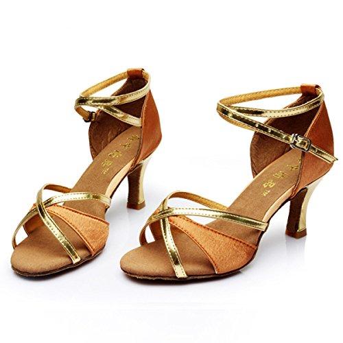 altri Latino b Professionista Superiore Med Donne Delle Ballroom Colori Sandali Shoe Dance Della 36 Salsa Ragazza Satin Scarpe a6Sp5xwqdq