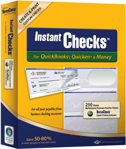 Instant Checks for QuickBooks, Quicken & Money: Form #3001 Personal Wallet - Green Graduated 250pk by VersaCheck