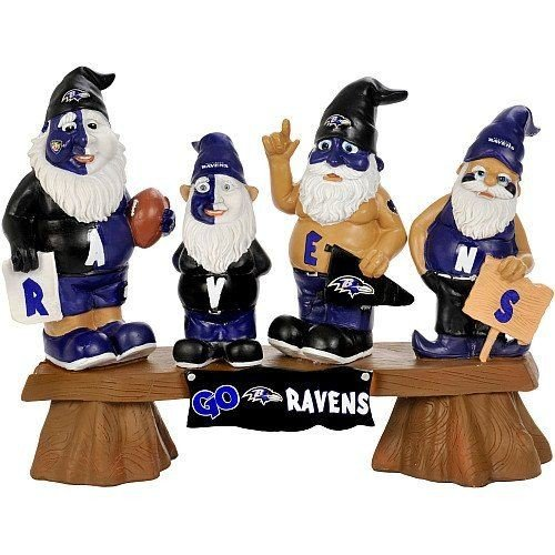 NFL Baltimore Ravens Fan Gnome Bench by Football Fanatics