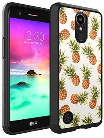 LG K20Plus Case, LG K20V Case, LG Harmony Case, LG Grace LTE Case, Capsule-Case Hybrid Slim Snap-on Case w/TPU Edge (Black) for LG K20 Plus / K20 V/Harmony/Grace - (Pineapple)